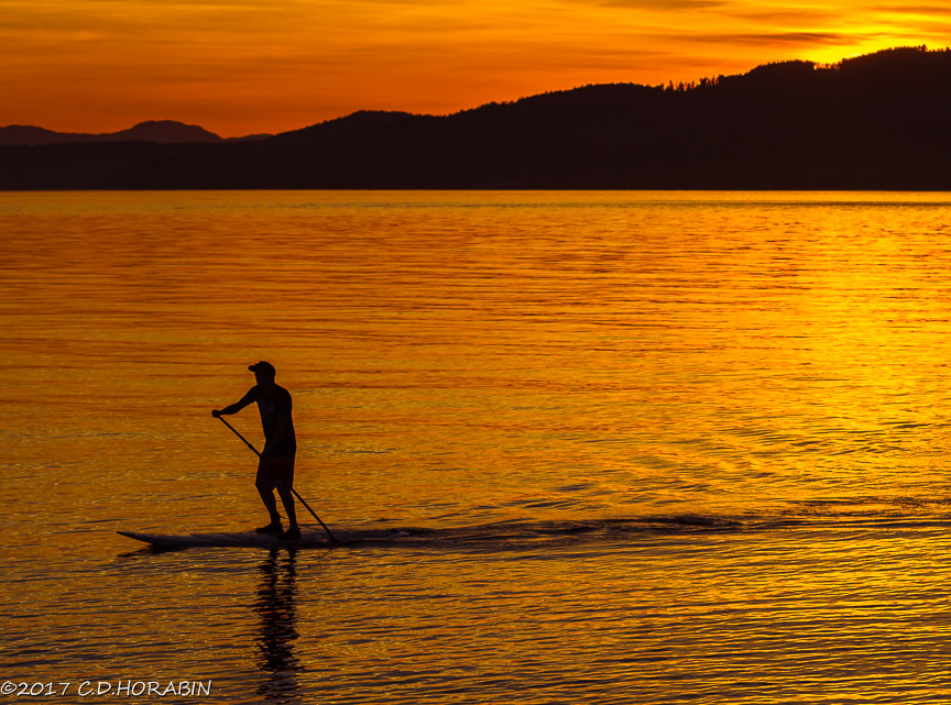 Sunset paddle, Davis Bay, BC