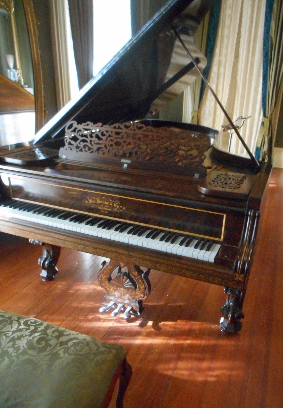 Knobe 7' Grand located in Centre Hill Mansion