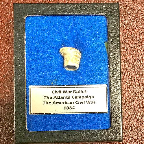 """Civil War Bullet VerticalHanging Display """"Atlanta"""""""