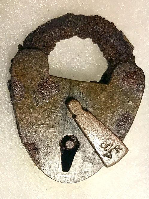 Small Brass Padlock Mid 1800s