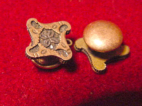Brass Collar Button Set