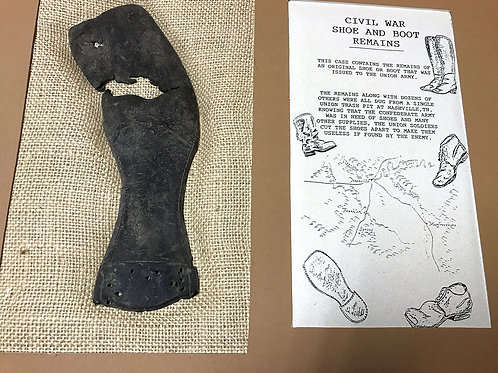 Union Boot/Shoe Remains From Nashville Trash Pit