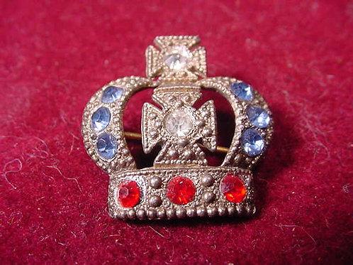 Rhinestone Crown Pin