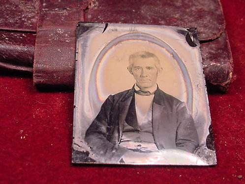 Civil War Era Wallet with Ambrotype