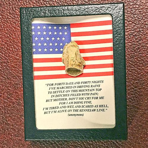 """Kennesaw Line"" Poem Display/ Union Flag"