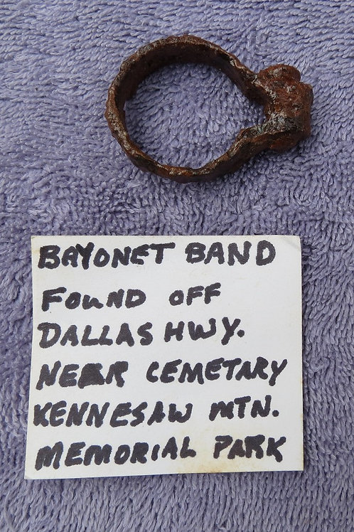 Bayonet locking ring:From near Dead Angle (Chatham's Hill, GA)