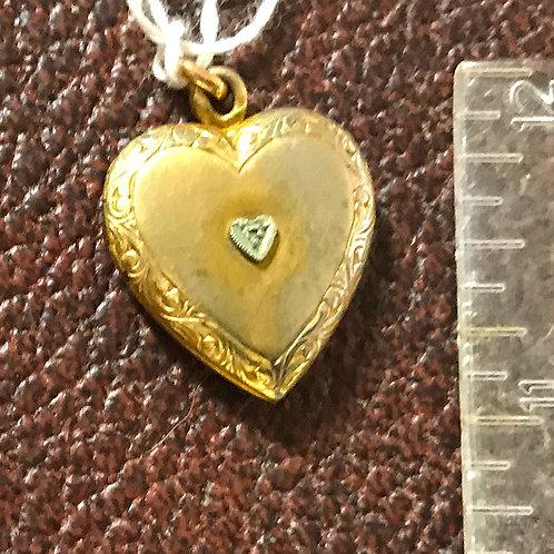 Small Locket with Tiny Diamond