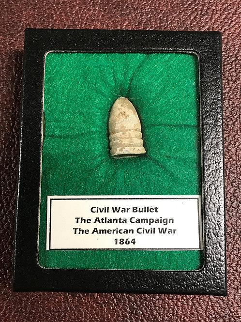 Display: Civil War Bullet From The Atlanta Campaign