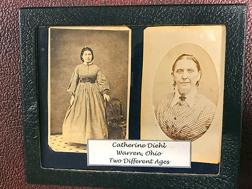 Pair of identified CDV pictures