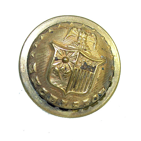 New York Coat Button Indian Wars