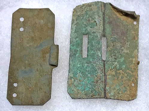 1790s neck stock buckle set