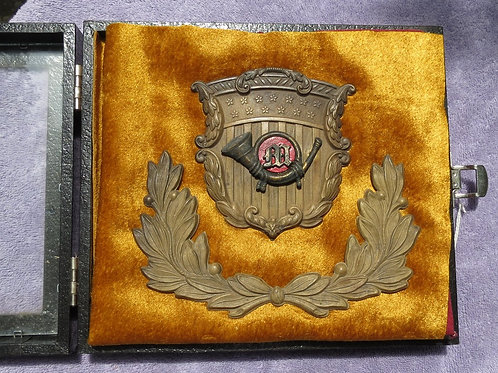 Marine Pattern 1859 Shako Hat Plate and Wreath