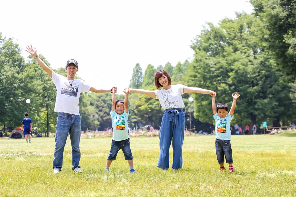 名古屋市 家族写真撮影 ロケーションフォト