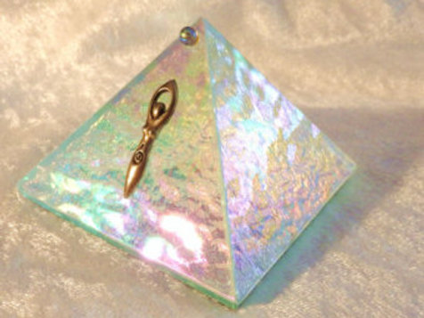 Glass Goddess Pyramid Box