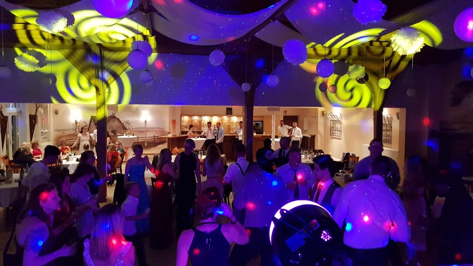 DJ Gala Licht Blau Gelb