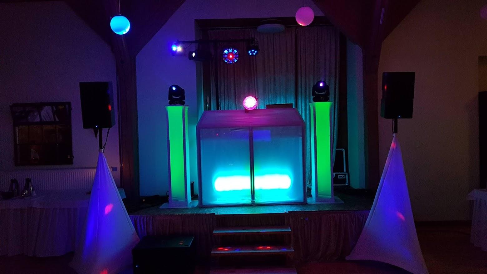 DJ Licht Gala Aufbau