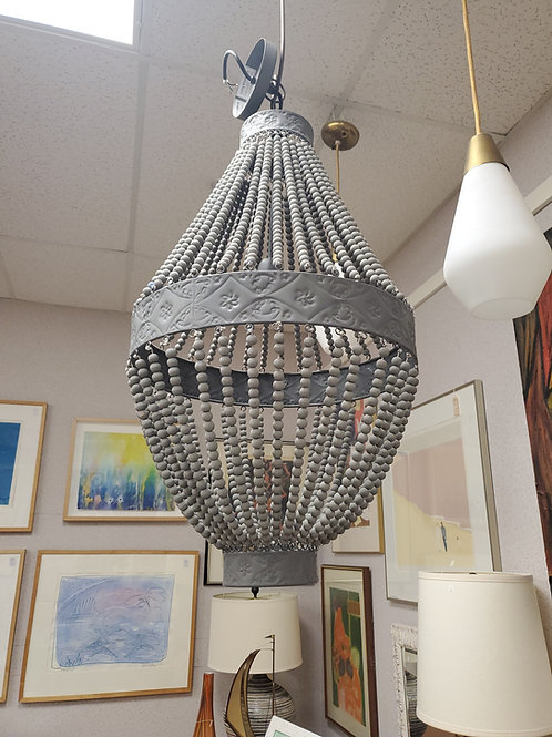 Grey Beaded Chandelier Made In India 🇮🇳