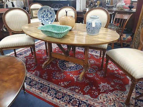 Antiqued Dining Or Wine Table