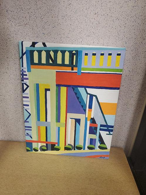 Tanya Hough, Cleveland Artist ( Deconstructed Overpass)