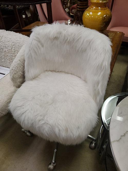Kinney Mongolian Lamb Desk Chair