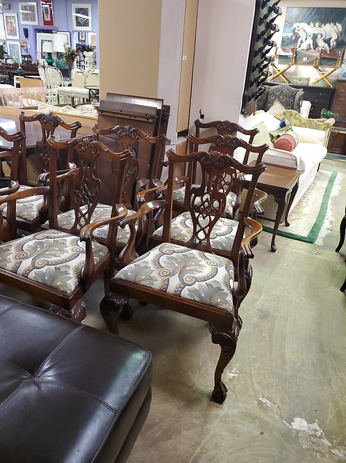 Set of 10 Baker Arm Chairs