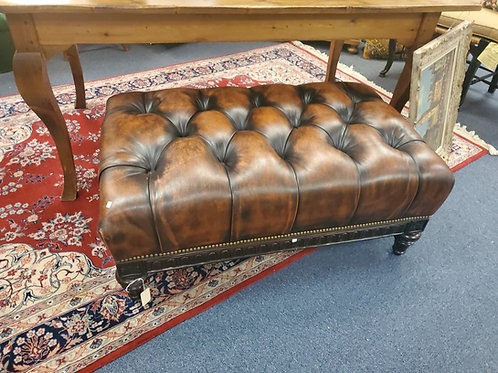 Leather Tufted Otttoman