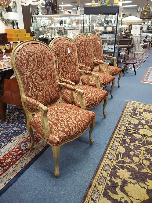 Set of 4 Louis XV style armchairs