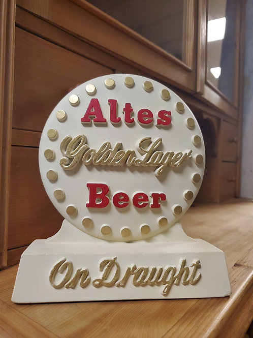 Altes Beer Golden Lager On Draught Advertisement Sign