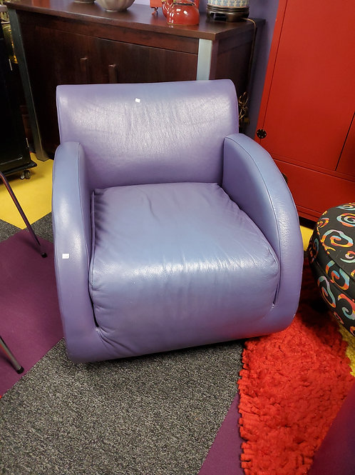 Purple Leather Rocking Chair