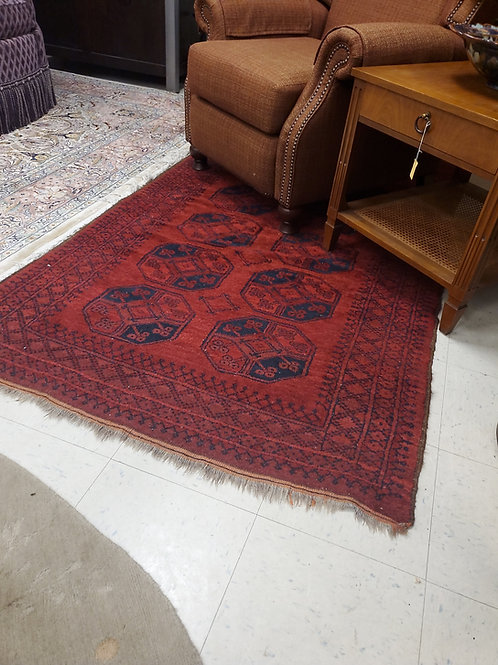 "Red and Black Small Rug 48"" by 80"""