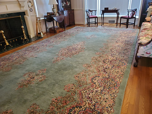 Large Area Rug Floral Pattern  20Ft x 9Ft 10'
