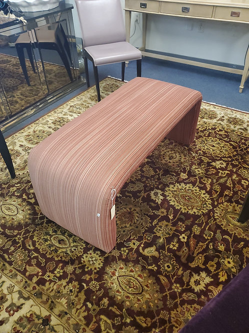 Modern Upholstered Curved Bench