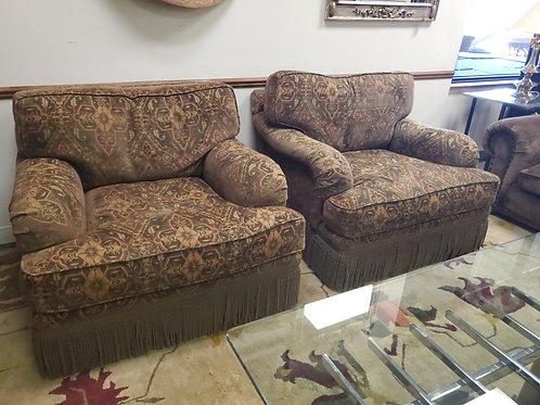 Pair of Custom Brown Chairs