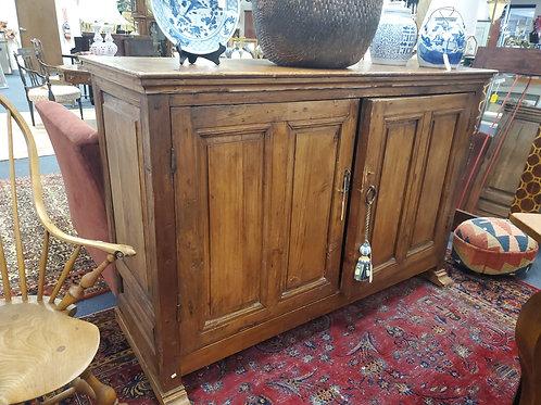 Fine Primitive Antique Oak & Iron Sideboard