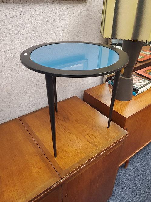 Naos Italian Blue Glass Iron Side Table