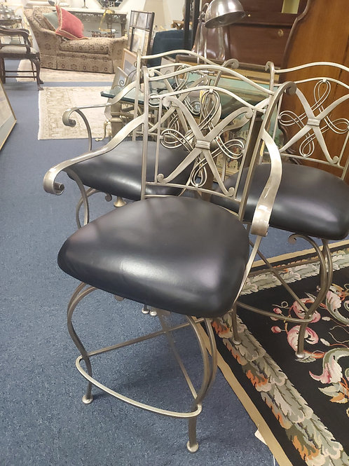 Set of 3 Steel Counter Chairs