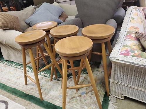 5 Wooden Bar Stools
