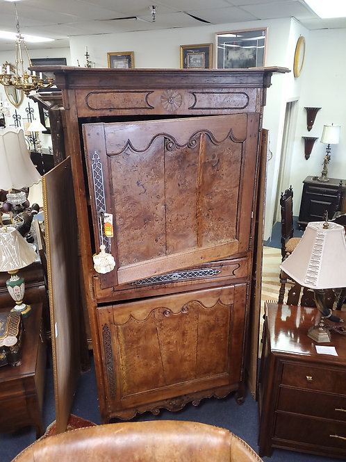 "18th Century French Armoire/Cupboard Burled Wood, ""50"" W, ""90"" H, ""30"" D"