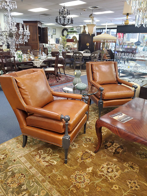 Pair Of CR Laine Leather Chairs Brand New Unused