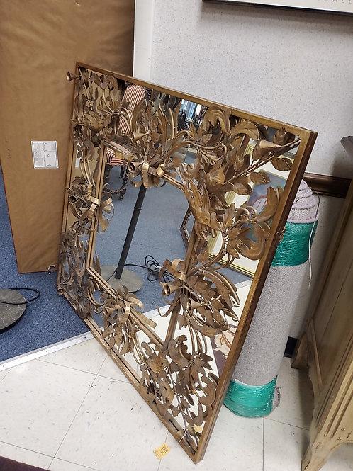 Metal Flower Mirror