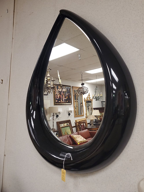 Black Teardrop Mirror