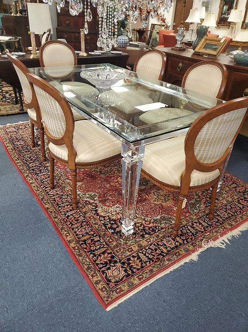 Custom Made Lucite Glass Table Length 80'