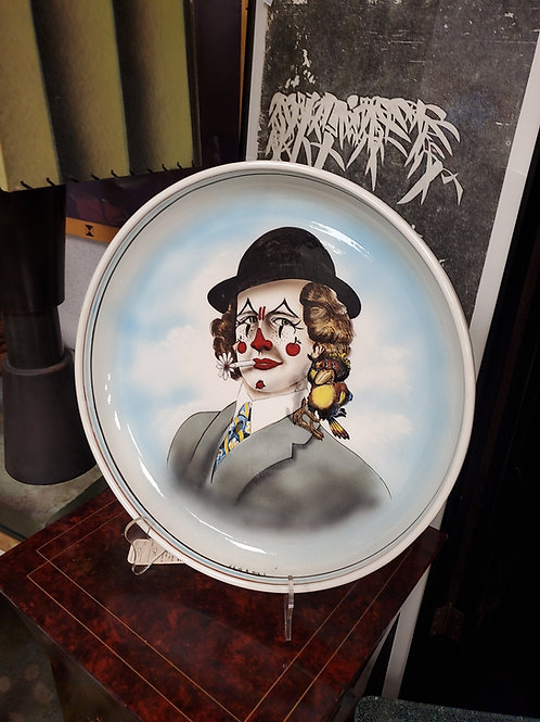 Signed Clown Plate