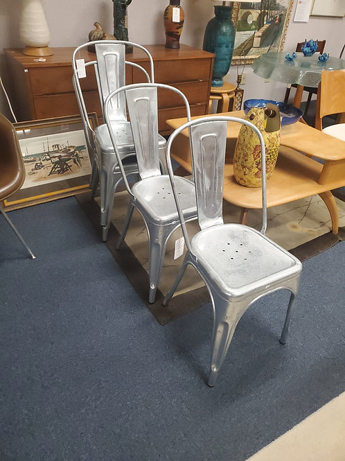 Set of 4 Steel Marais A Side Chairs by Industry West
