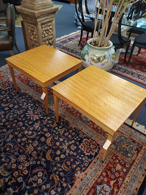 Charles Phipps & Sons Satinwood End Tables