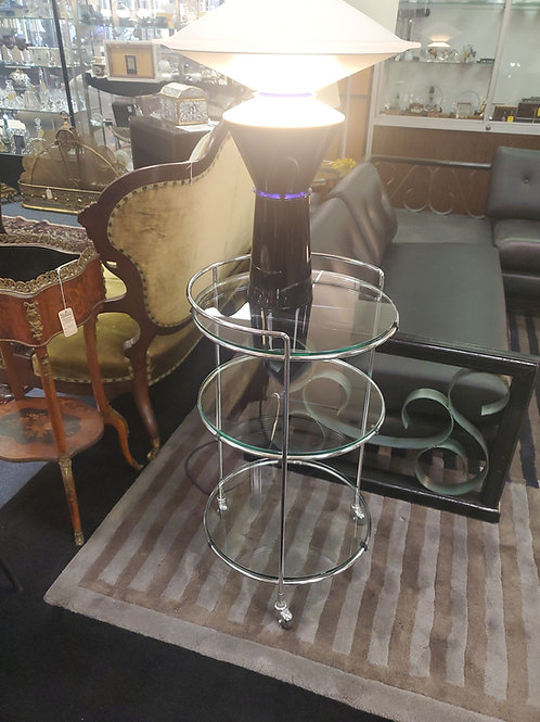 3 Tier Glass And Chrome Stand