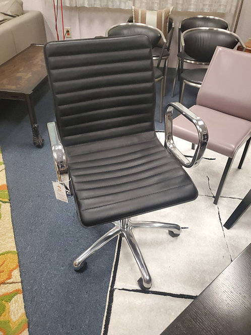 Crate and Barrell Ripple Black Office Chair