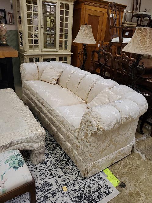 Baker Damask Chesterfield Sofa