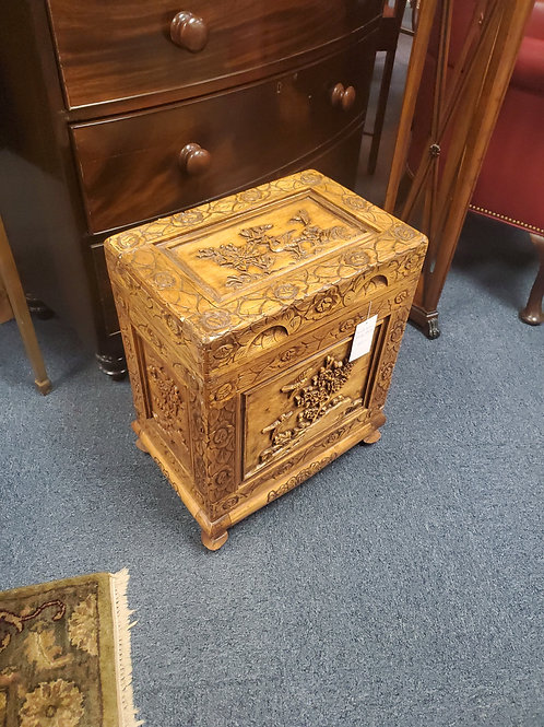 Carved Asian Storage Stand