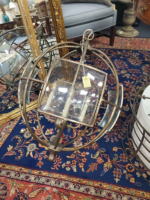 Currey and Company Broxton  Circular Globe  Chandelier
